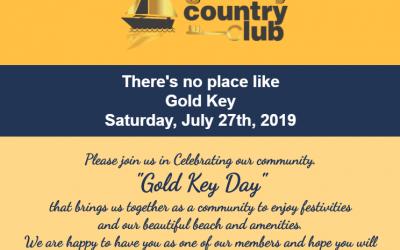 """Gold Key Day"" Saturday,  July 27th 2019"