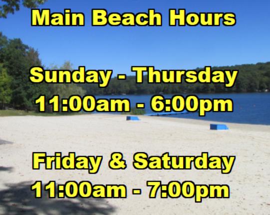 Summer Beach Hours 2020