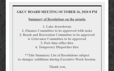October 16, 2020 BOD Meeting Agenda