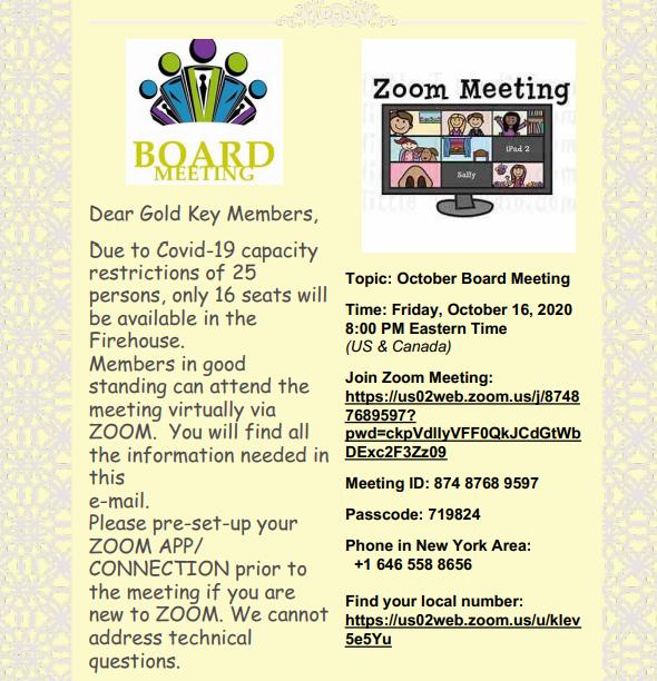Zoom Board Meeting Access